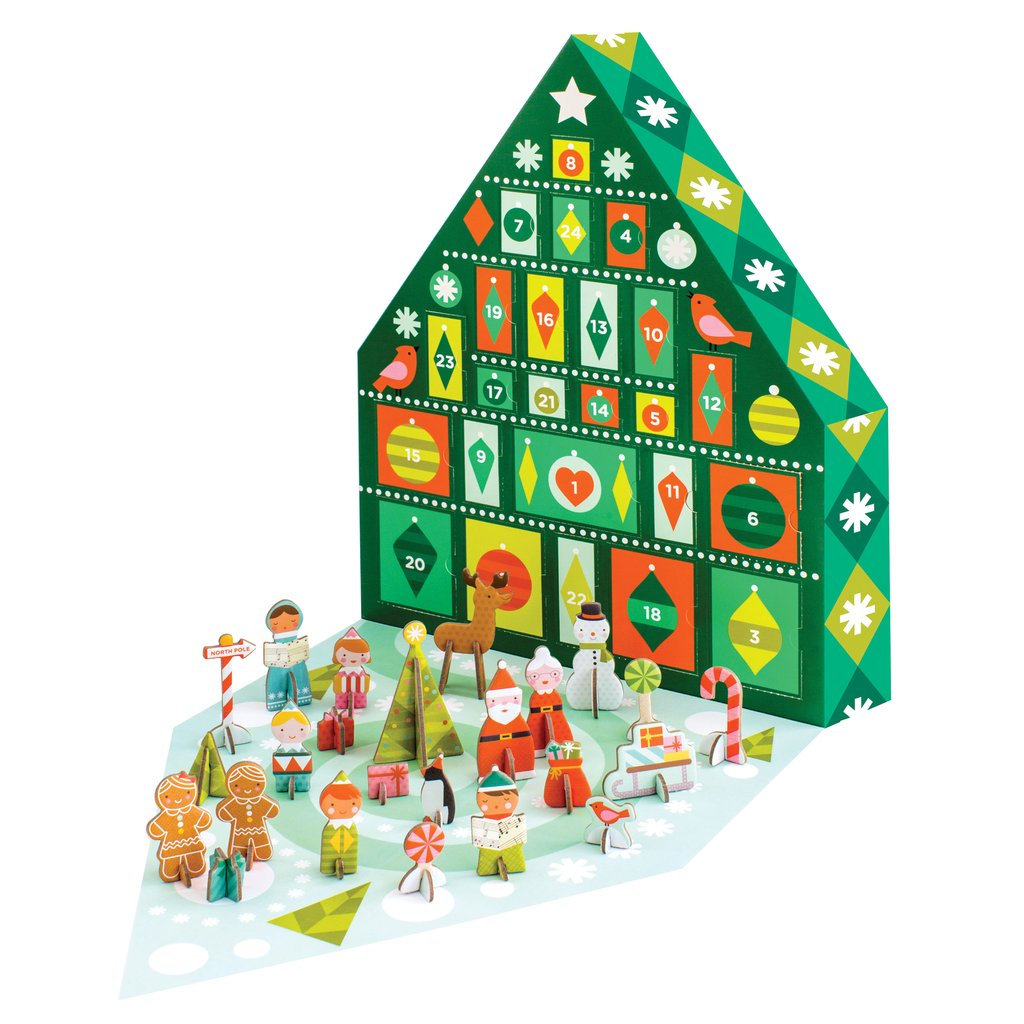Pop-out and Play Tree Advent Calendar
