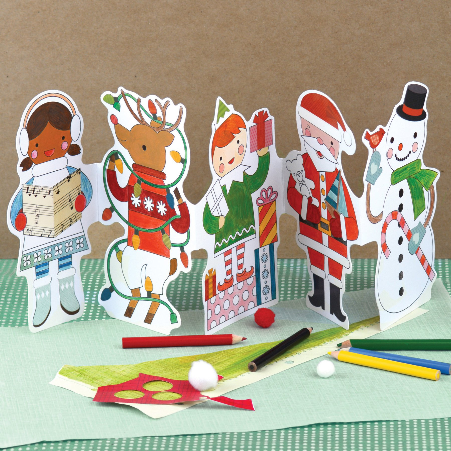 Holiday Fun Paper Doll Chain